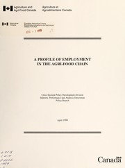 Cover of: A profile of employment in the agri-food chain