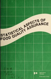 Cover of: Statistical aspects of food quality assurance