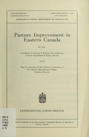 Cover of: Pasture improvement in eastern Canada | Canada. Dept. of Agriculture