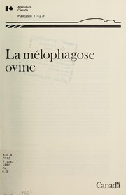Cover of: La mélophagose ovine