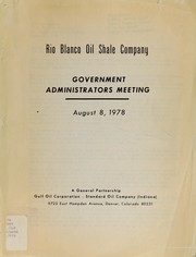 Government Administrators Meeting by Government Administrators Meeting (1978 Aug. 8)
