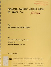 Cover of: Proposed Rangely access road to tract C-a for Rio Blanco Oil Shale Project