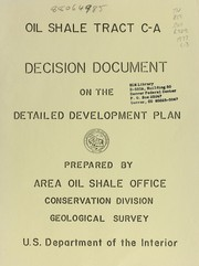 Cover of: Prototype oil shale leasing program, oil shale tract C-a (C-20046)