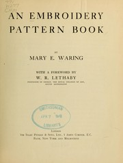Cover of: An embroidery pattern book by Mary E. Waring