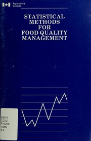 Cover of: Statistical methods for food quality management