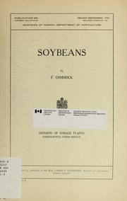 Cover of: Soybeans | Canada. Agriculture Canada