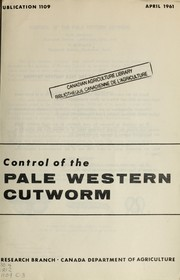 Cover of: Control of the pale Western cutworm