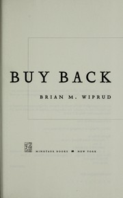 Cover of: Buy back | Brian M. Wiprud