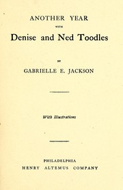 Cover of: Another year with Denise and Ned Toodles | Gabrielle E. Jackson