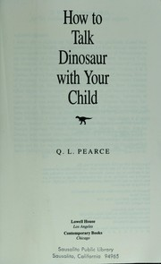Cover of: How to talk dinosaur with your child