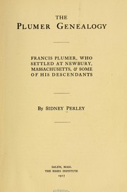 Cover of: The Plumer genealogy