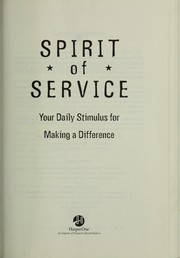 Cover of: The spirit of service