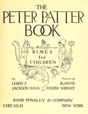 Cover of: The Peter Patter book | Jackson, Leroy F.