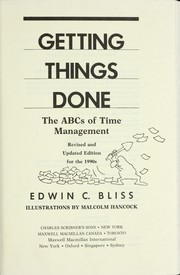 Getting things done by Edwin C. Bliss