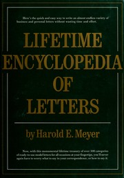 Lifetime encyclopedia of letters by Harold E. Meyer