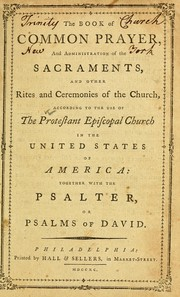 Book of common prayer by Episcopal Church