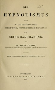 Cover of: Der Hypnotismus