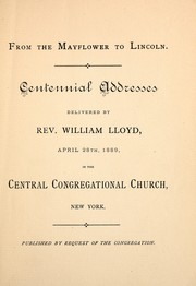 Cover of: From the Mayflower to Lincoln | William Lloyd