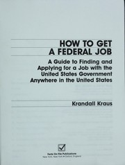 Cover of: How to get a federal job