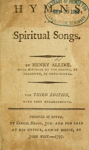Cover of: Christian hymns, poems, and spiritual songs, sacred to the praise of God our Saviour