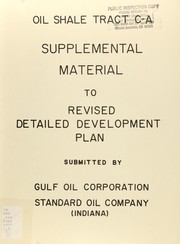 Cover of: Supplemental material to Revised detailed development plan