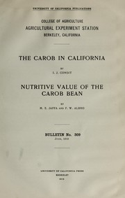 Cover of: The carob in California | Ira J. Condit