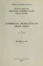 Cover of: Commercial production of grape syrup