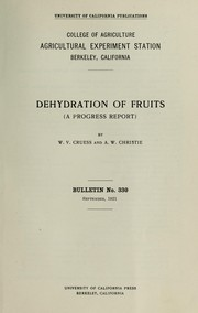 Cover of: Dehydration of fruits