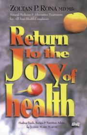 Cover of: Return to the Joy of Health