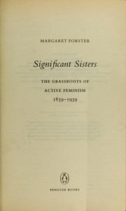 Cover of: Significant sisters | Margaret Forster