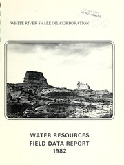 Cover of: Water resources field data report