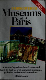 Cover of: Undiscovered museums of Paris | Eloise Danto