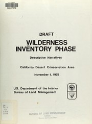 Cover of: Draft wilderness inventory phase