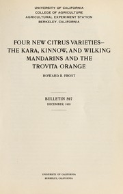 Cover of: Four new citrus varieties