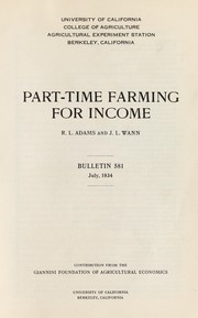 Cover of: Part-time farming for income