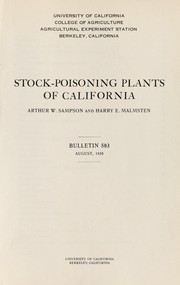 Cover of: Stock-poisoning plants of California | Arthur W. Sampson