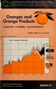 Cover of: Oranges and orange products