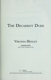 Cover of: The decadent duke