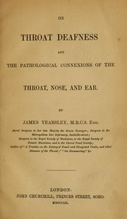 Cover of: On throat deafness