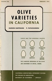 Cover of: Olive varieties in California