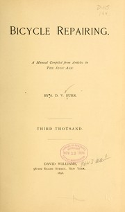 Cover of: Bicycle Repairing by Burr, S. D[e] V[ere],