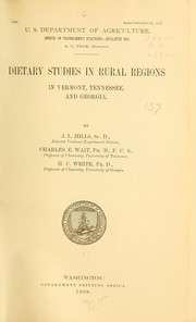 Cover of: Dietary studies in rural regions in Vermont, Tennessee, and Georgia