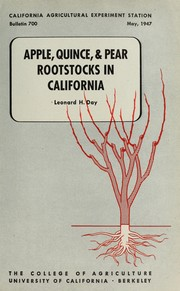 Cover of: Apple, quince, & pear rootstocks in California