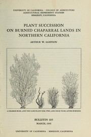 Cover of: Plant succession on burned chaparral lands in northern California