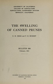 Cover of: The swelling of canned prunes