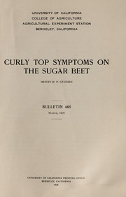 Cover of: Curly top symptoms on the sugar beet | Henry H. P. Severin