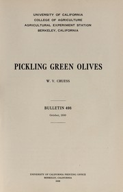 Cover of: Pickling green olives