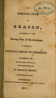 Cover of: Morning star of reason, absorbed in the rising sun of revelation