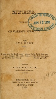 Cover of: Hymns, composed on various subjects | J. Hart