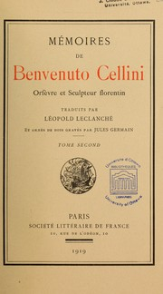Cover of: Mémoires de Benvenuto Cellini